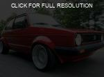 Volkswagen Rabbit red #1