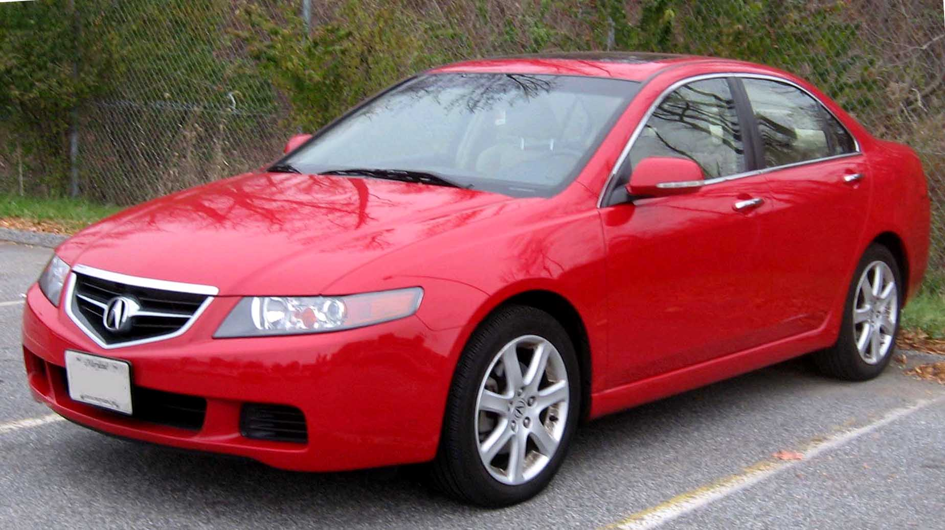 Acura TSX red #1