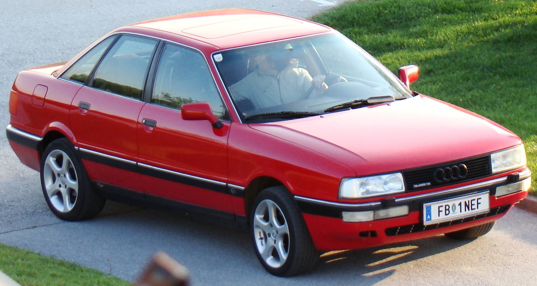 Audi 90 red #4