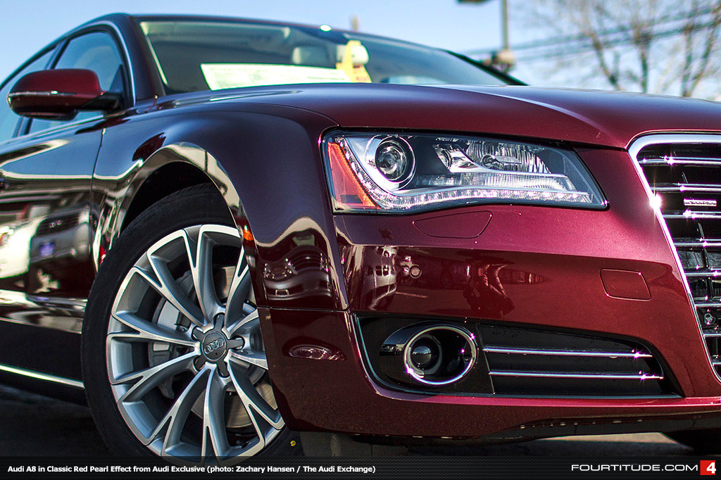 Audi A8 red #4
