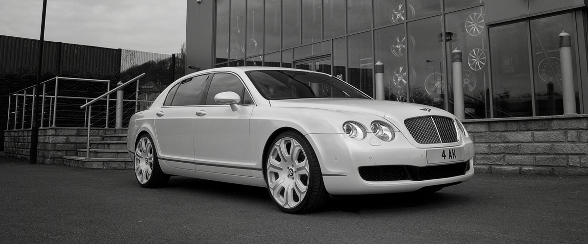 Bentley Continental Flying Spur white #1