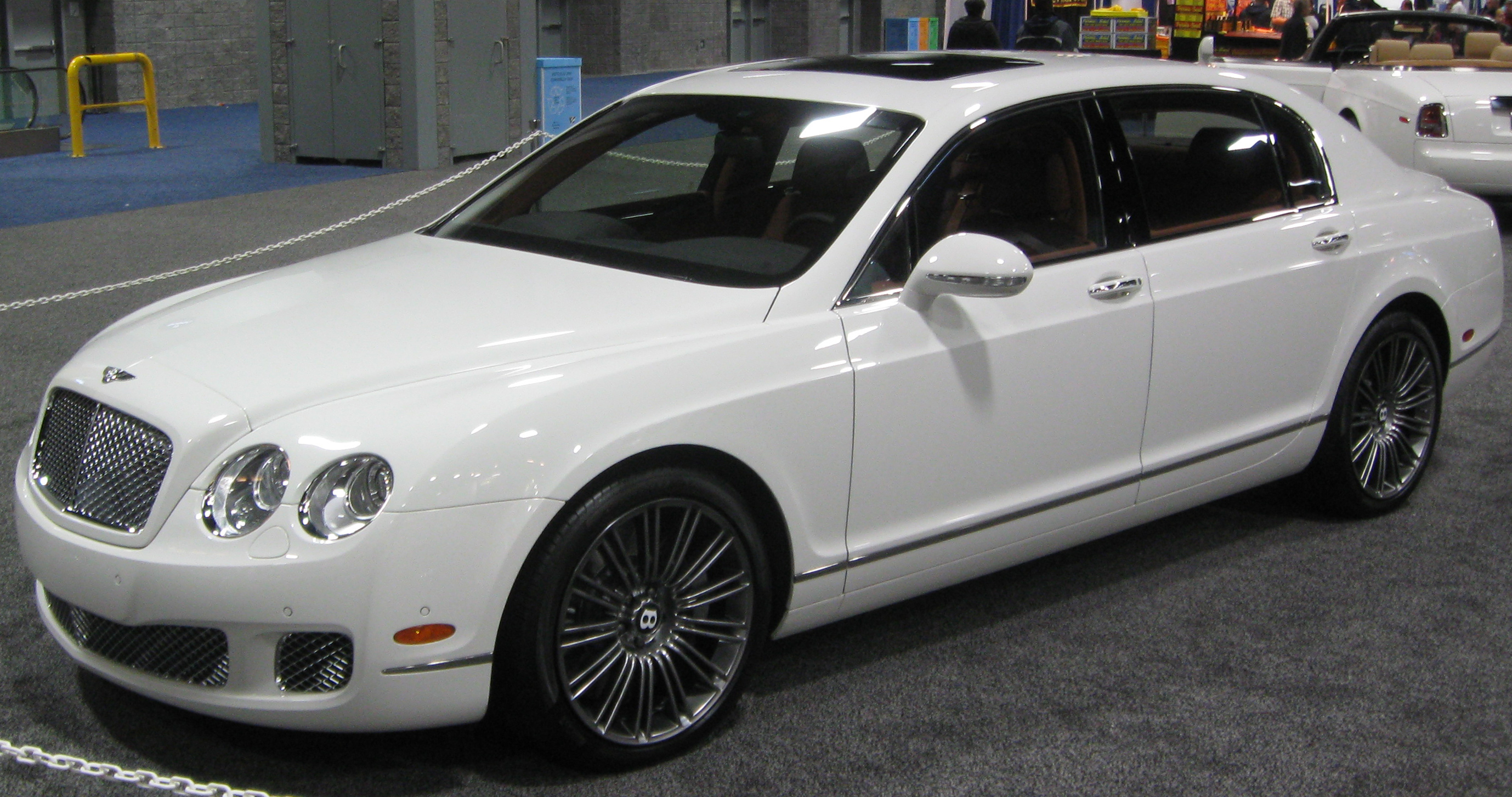Bentley Continental Flying Spur white #4