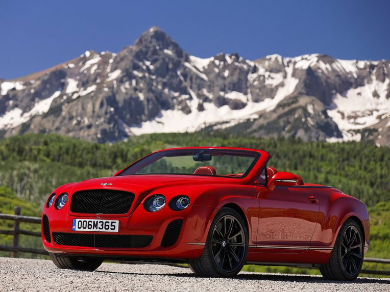 Bentley Continental Supersports Convertible red #3