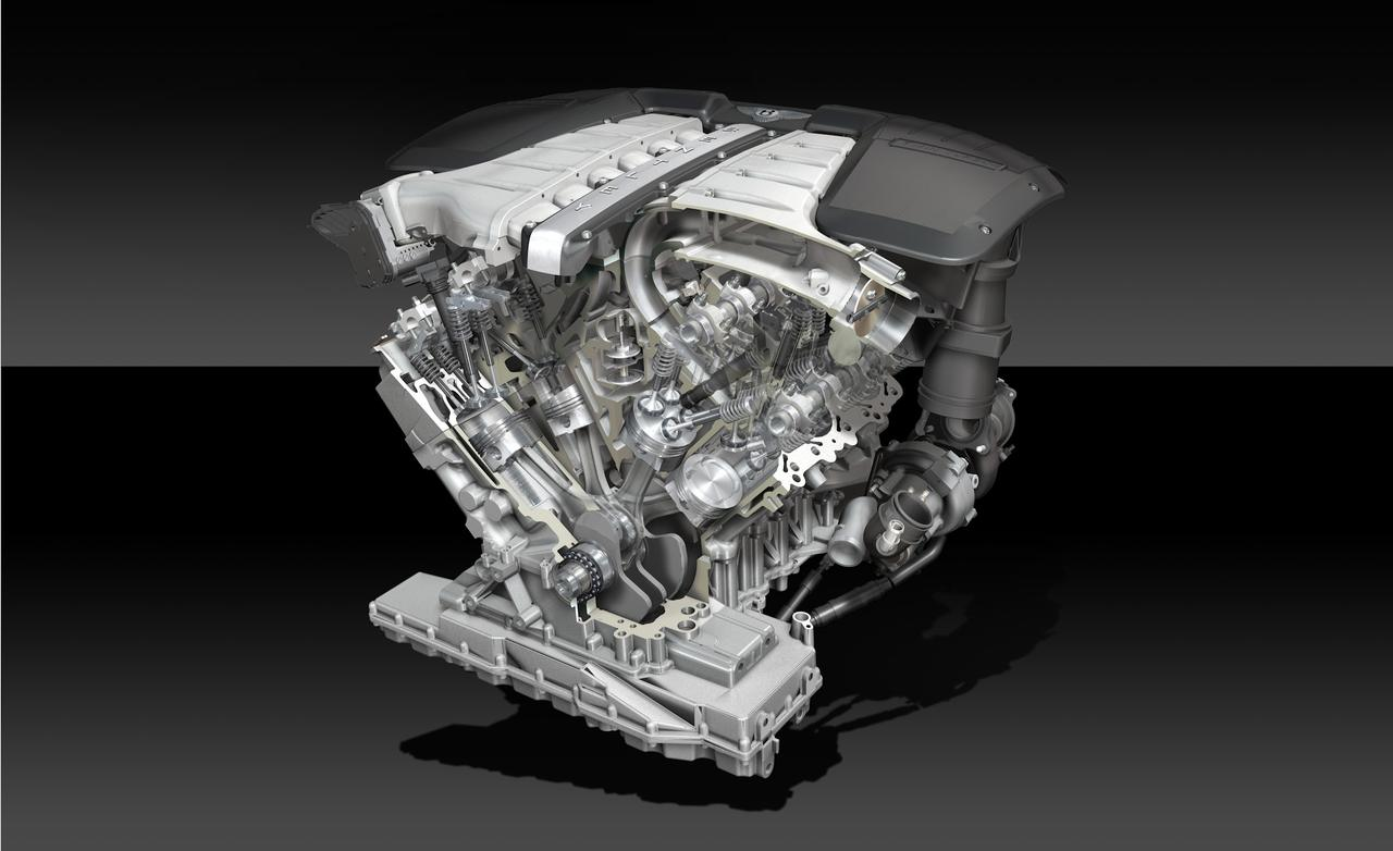 Bentley Flying Spur engine #1
