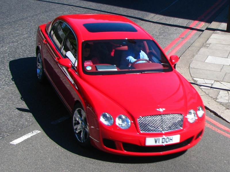 Bentley Flying Spur red #1