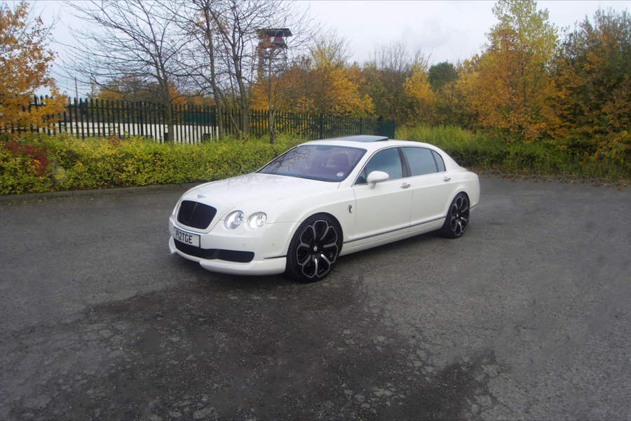 Bentley Flying Spur white #4