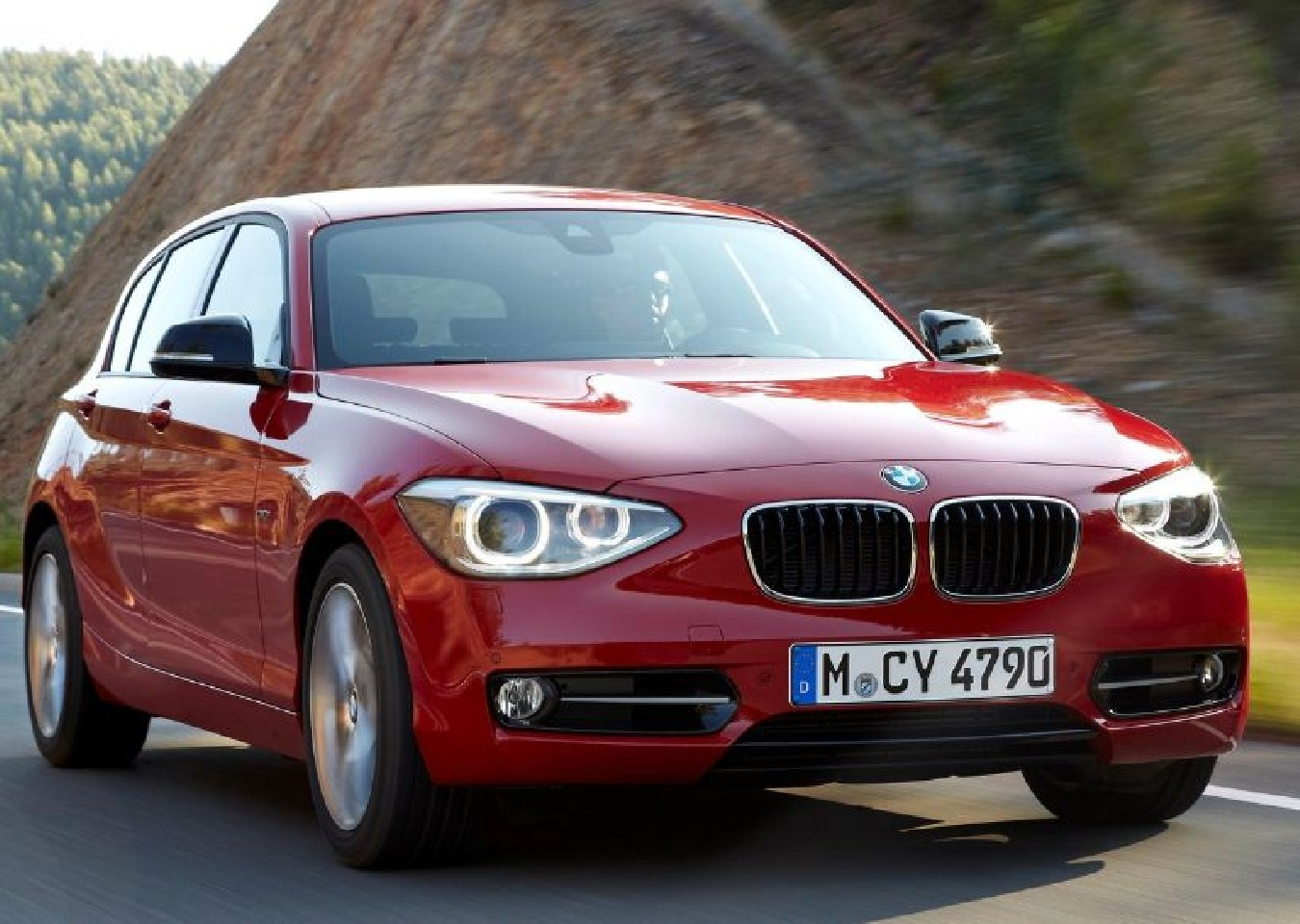 BMW 1 Series red #1