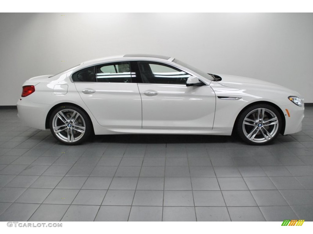 BMW 6 Series Gran Coupe white #1