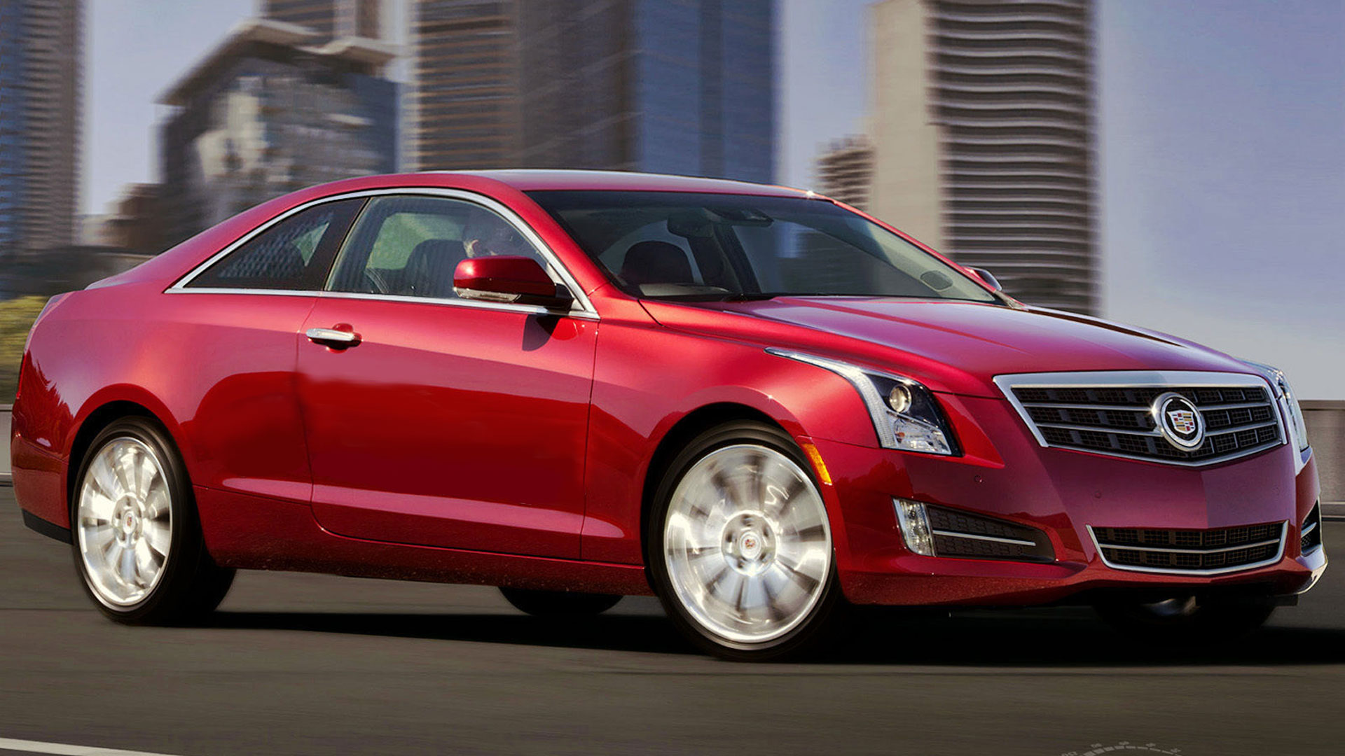 Cadillac ATS Coupe red #1