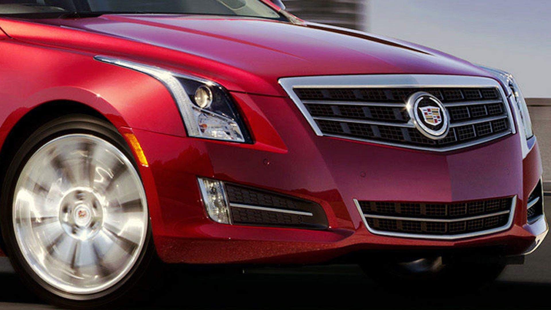 Cadillac ATS Coupe red #2