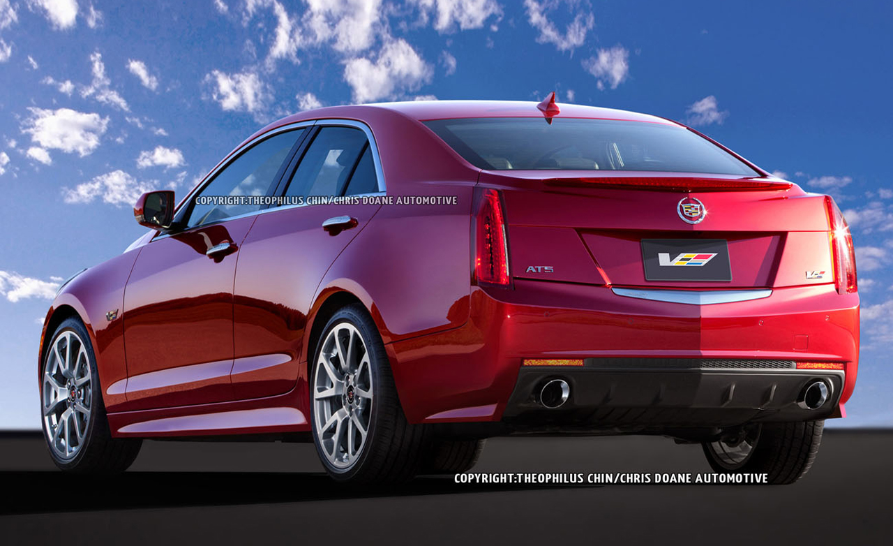 Cadillac ATS Coupe red #3