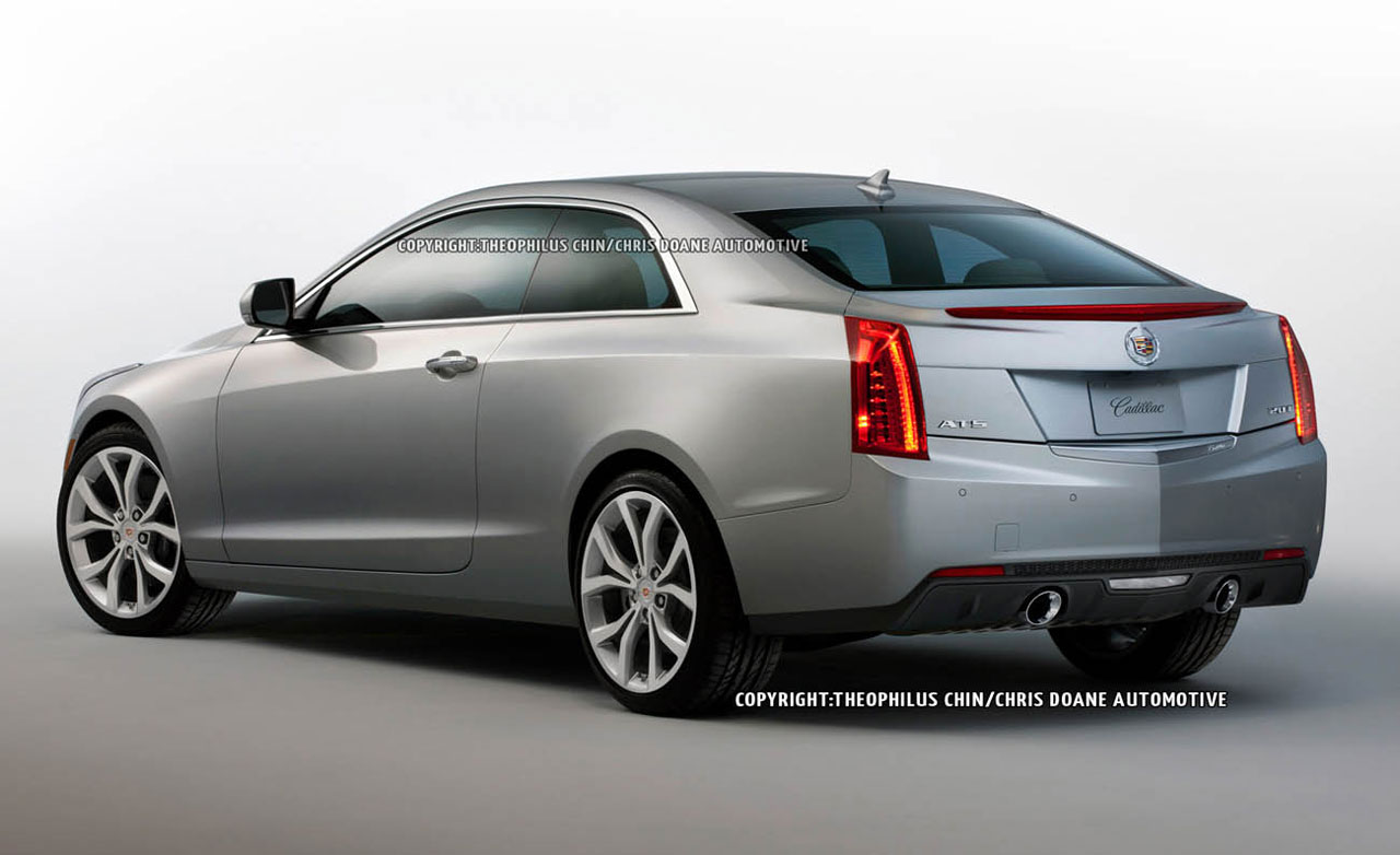 Cadillac ATS Coupe red #4