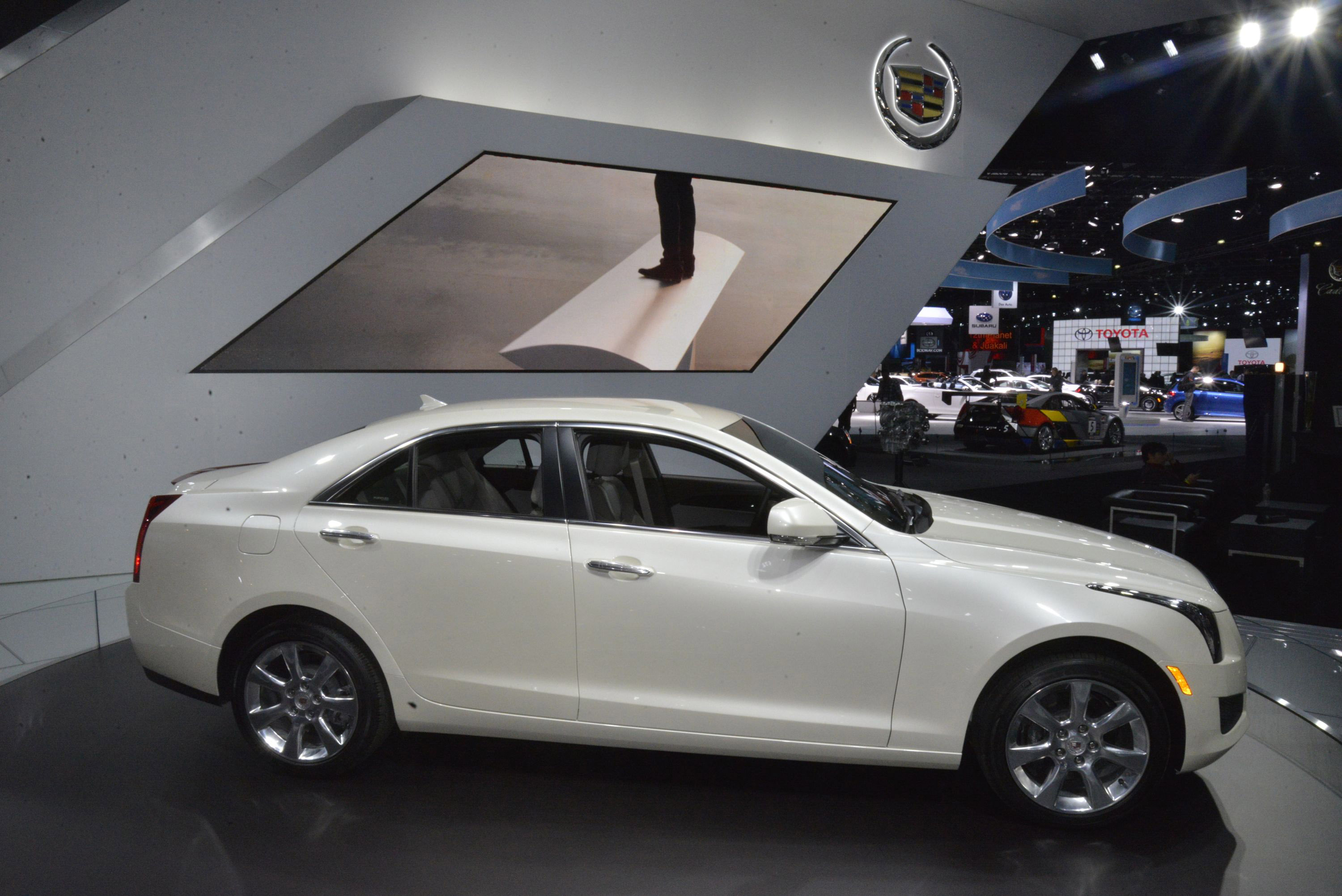 Cadillac ATS Coupe white #3