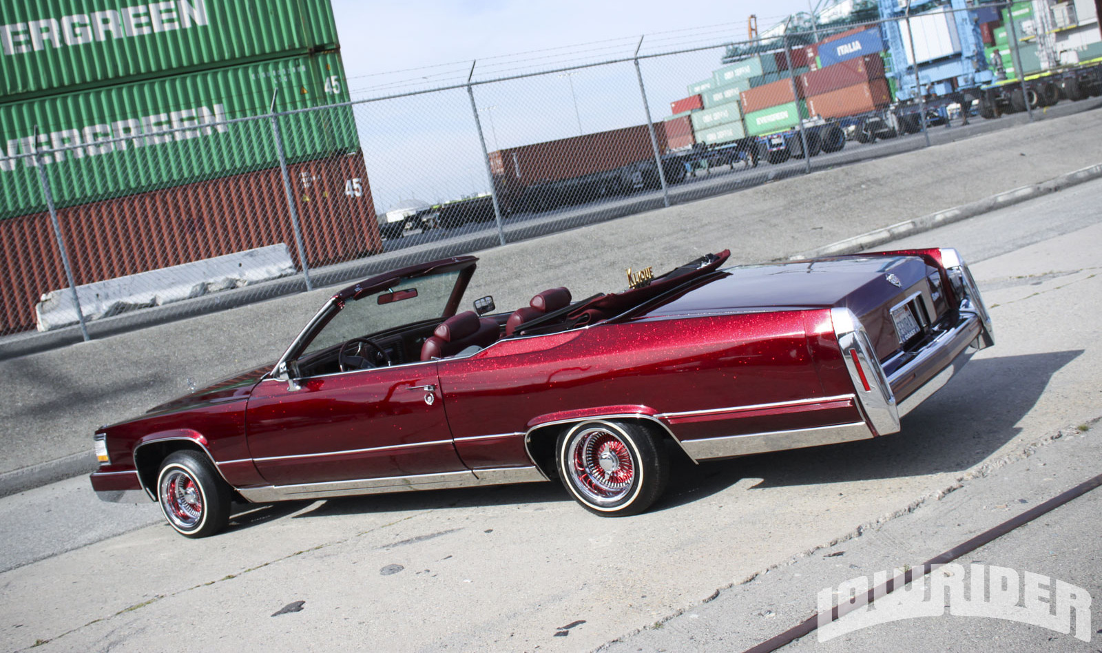 Cadillac Brougham red #4