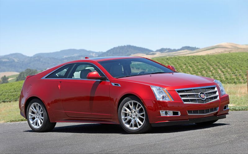 Cadillac CTS Coupe red #1