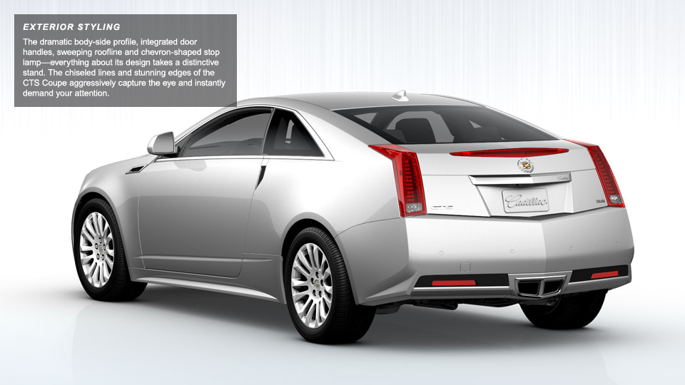 Cadillac CTS Coupe white #1