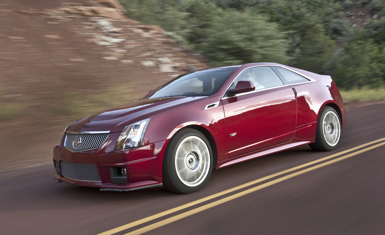 Cadillac CTS-V Coupe red #2