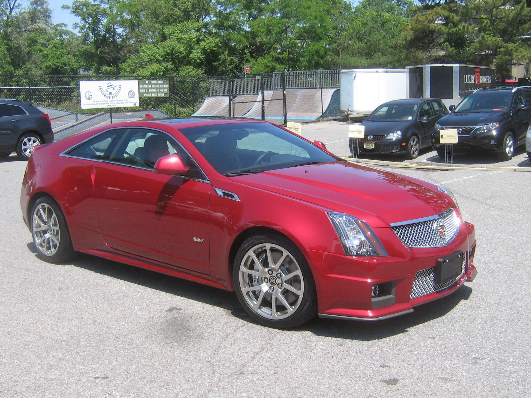 Cadillac CTS-V Coupe red #4