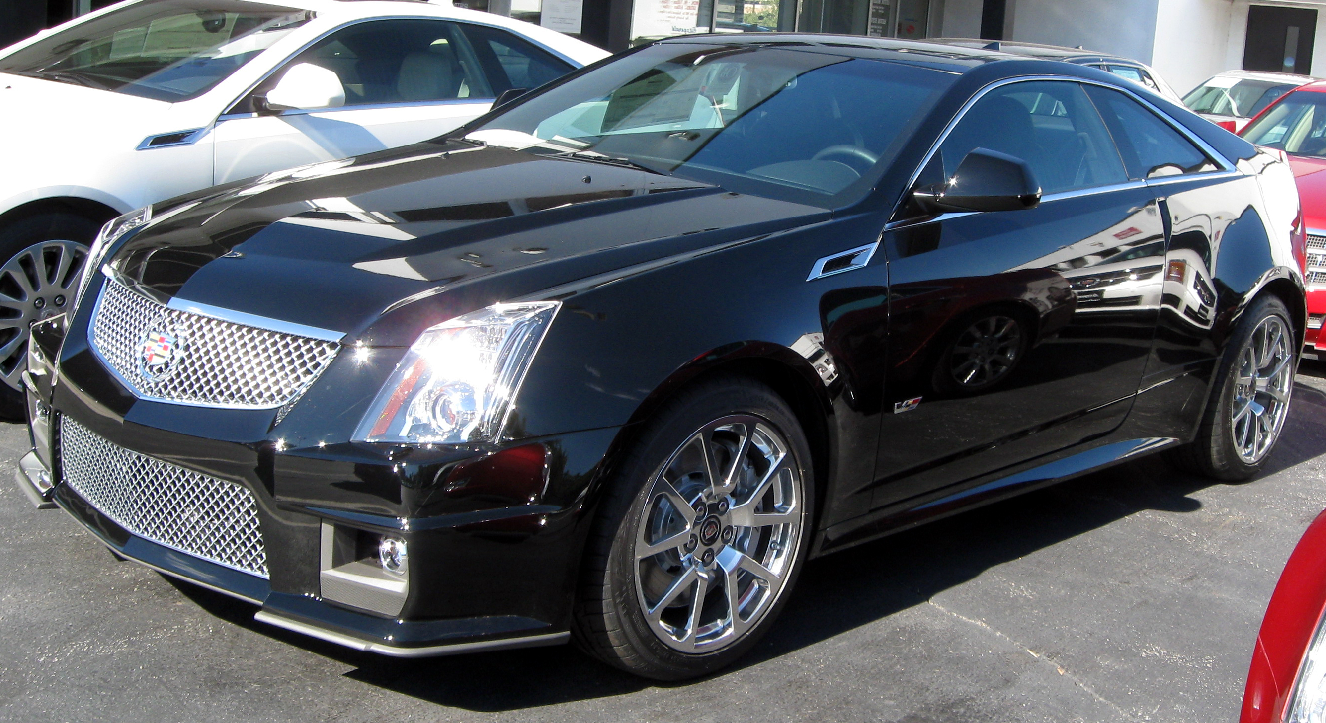 Cadillac CTS-V Coupe white #3