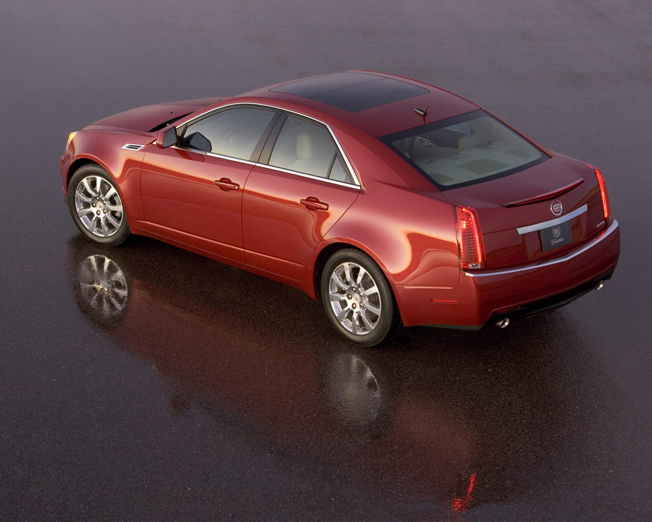 Cadillac STS red #2