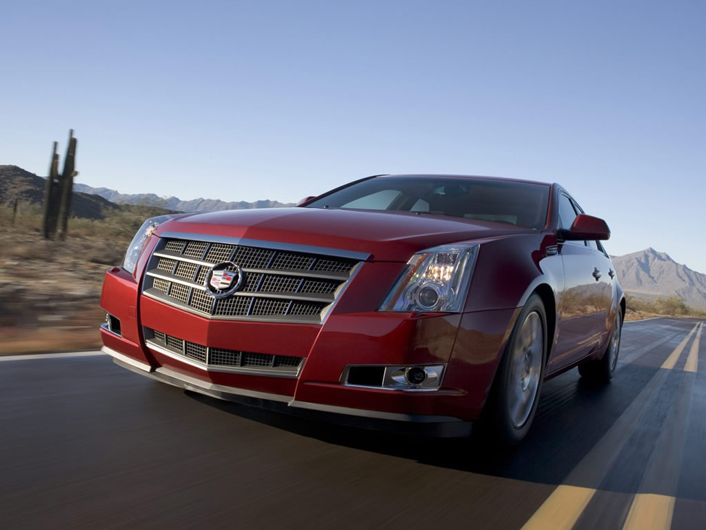 Cadillac STS red #4