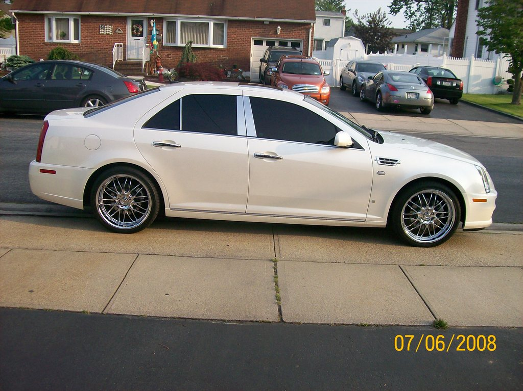Cadillac STS white #1