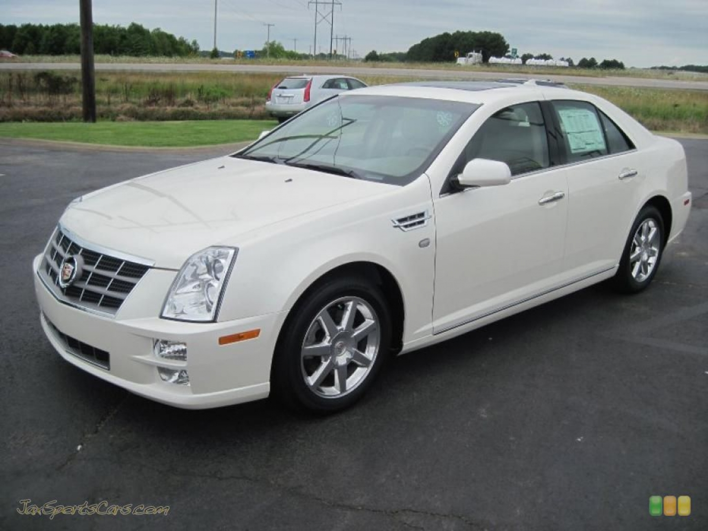 Cadillac STS white #3