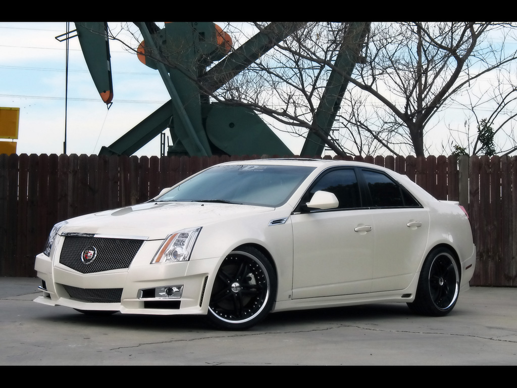 Cadillac STS white #4