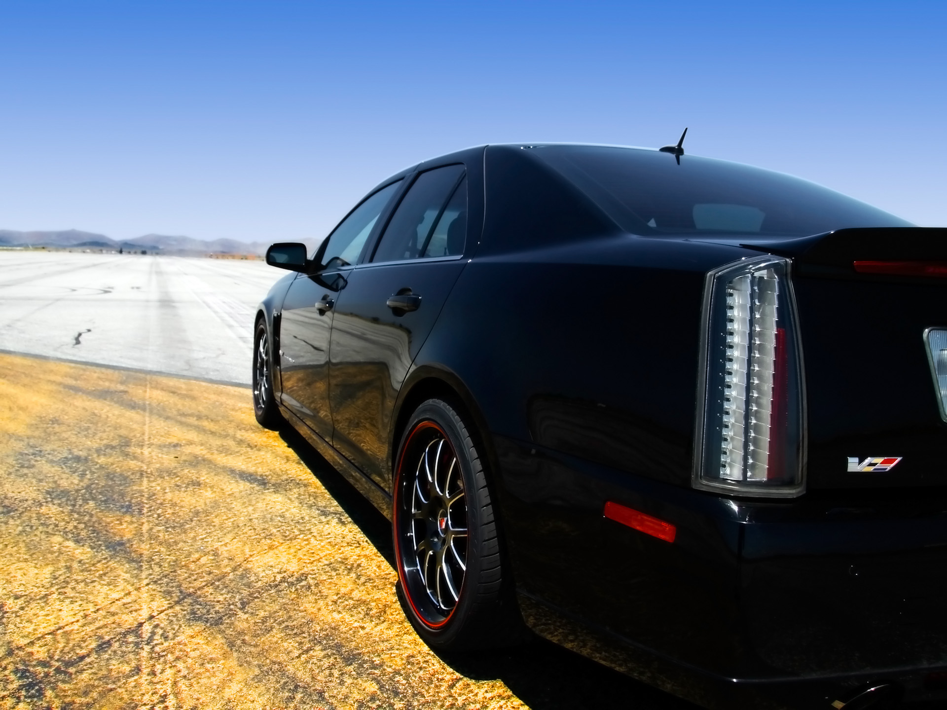 Cadillac STS-V red #3