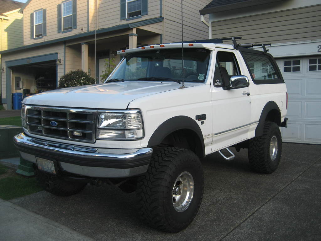 Ford Bronco white #1