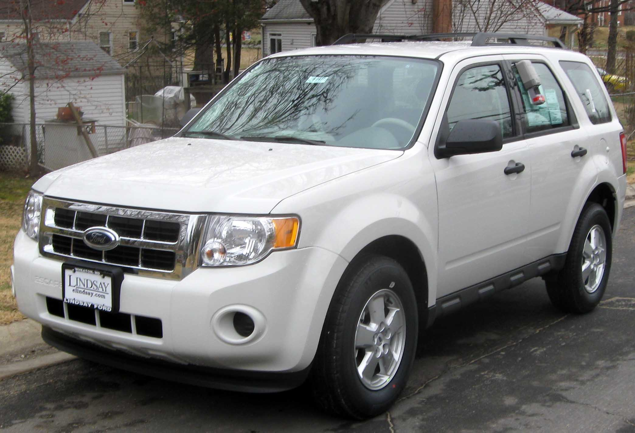 Ford Escape white #2