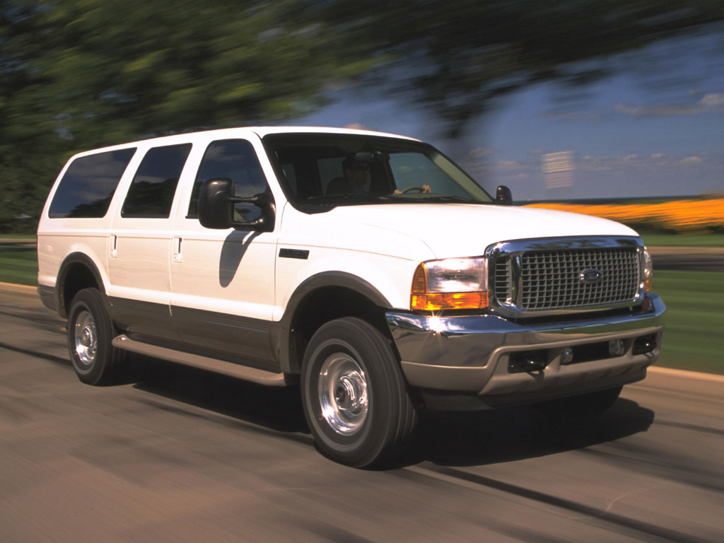 Ford Excursion white #4