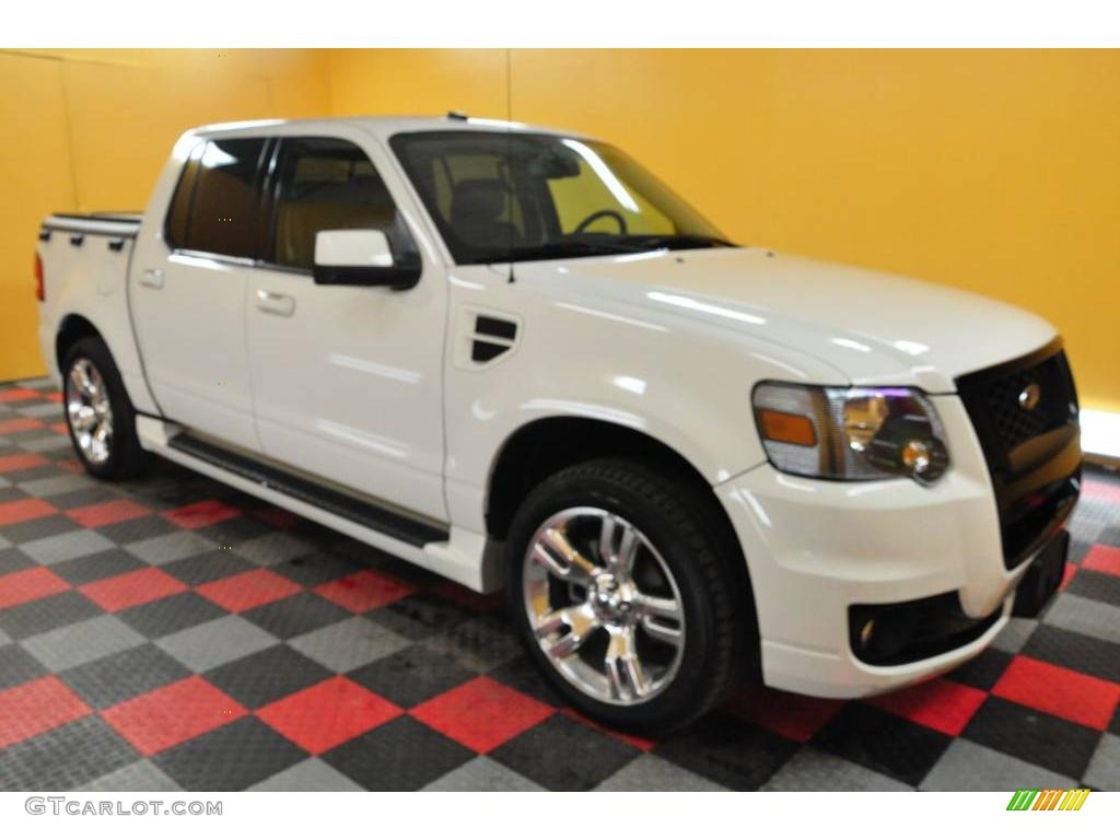 Ford Explorer Sport Trac white #3