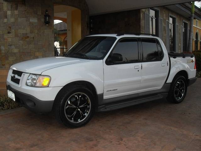 Ford Explorer Sport Trac white #1