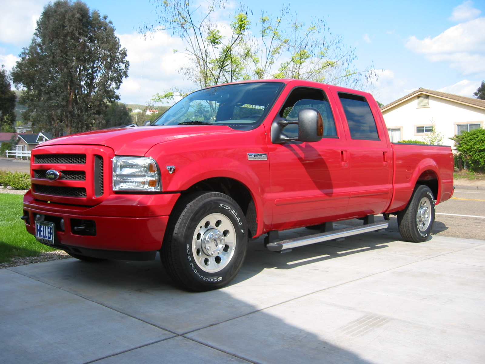 Ford F-250 red #2