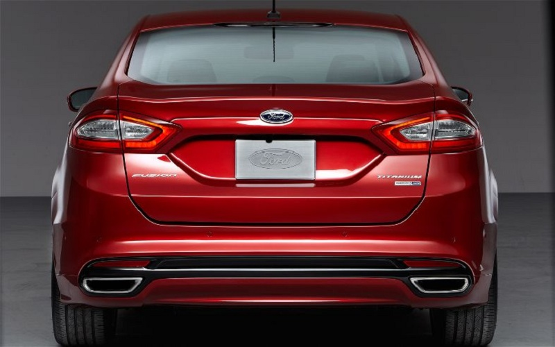 Ford Fusion Hybrid red #1