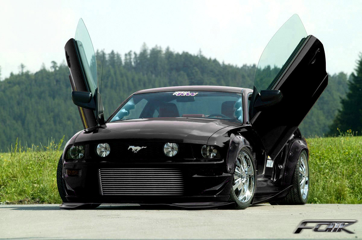 Ford Mustang black #2