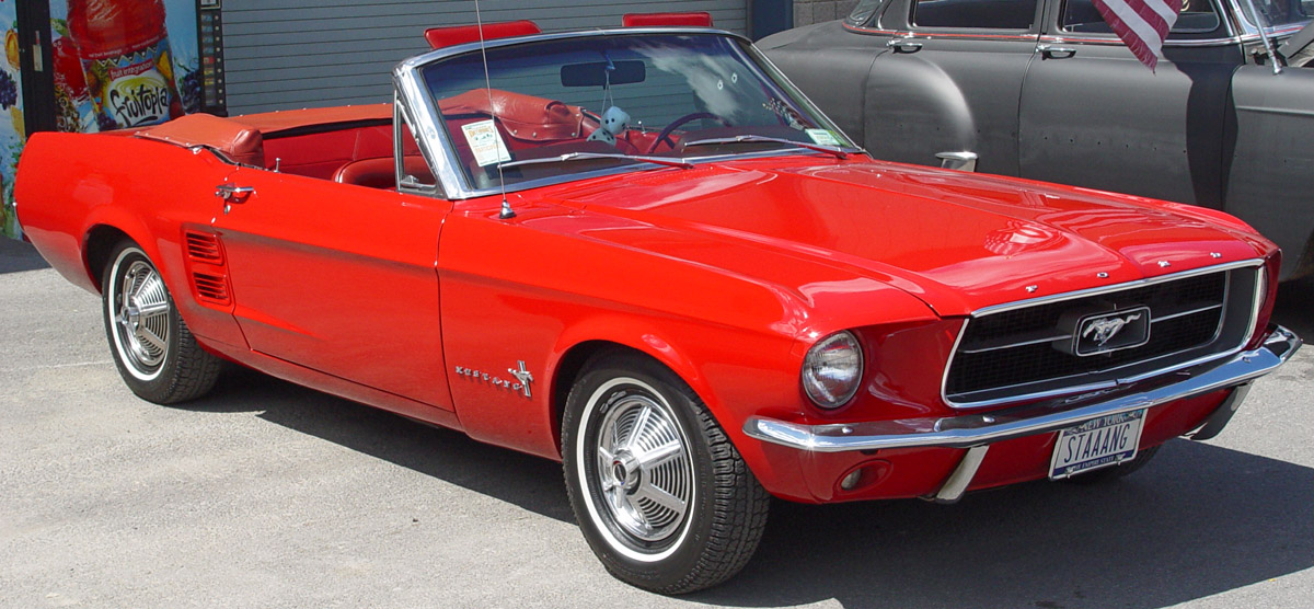 Ford Mustang red #1