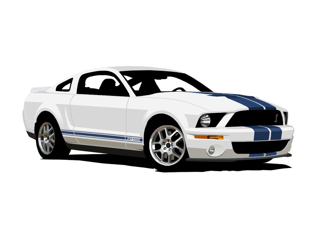 Ford Mustang white #1