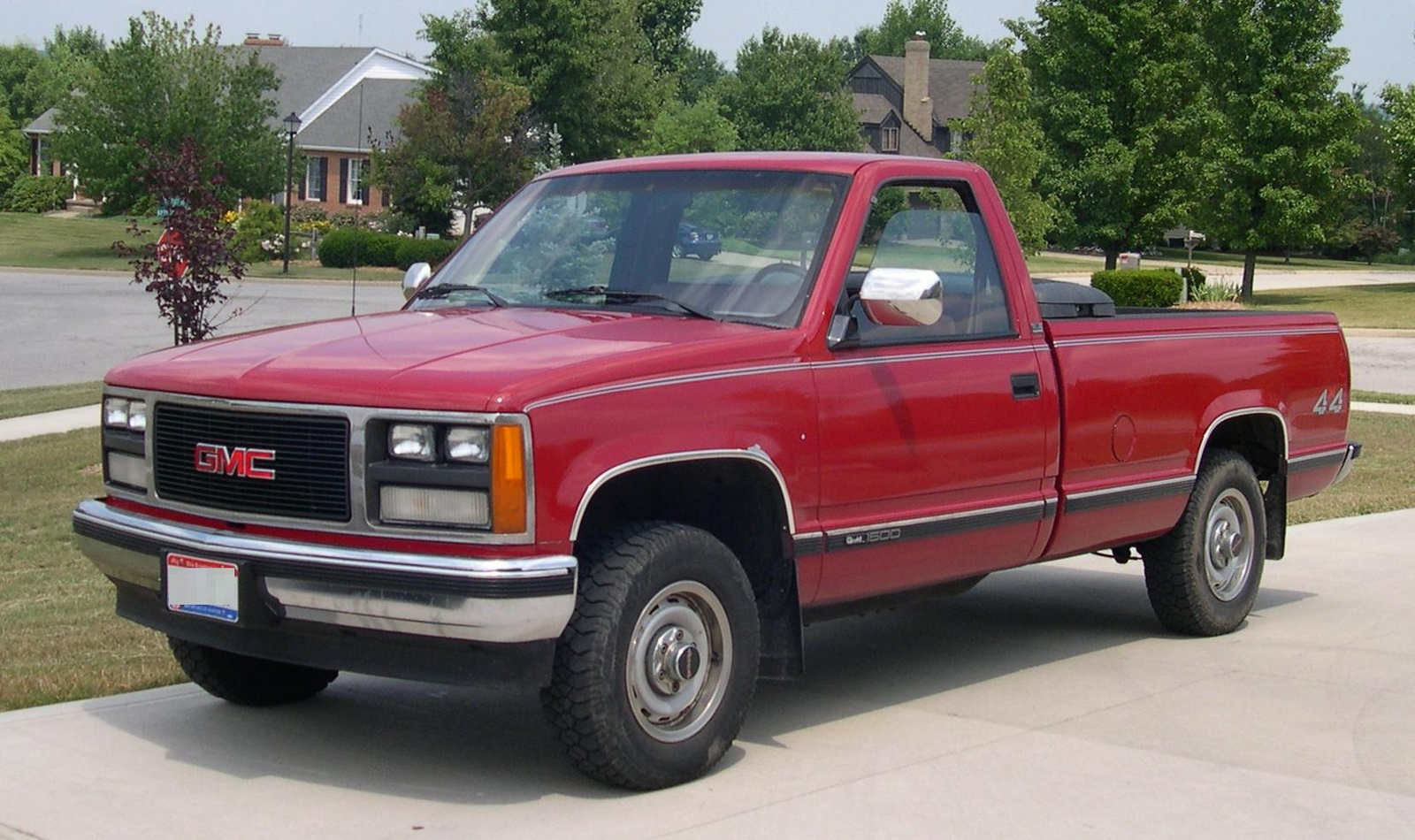 GMC Sierra C3 red #1