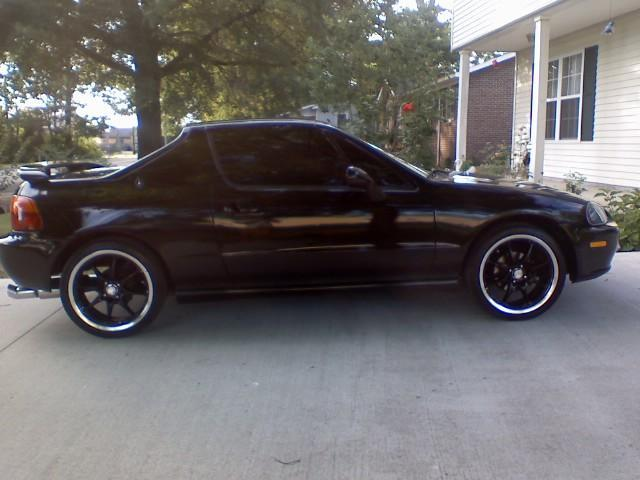 Honda Civic del Sol black #1