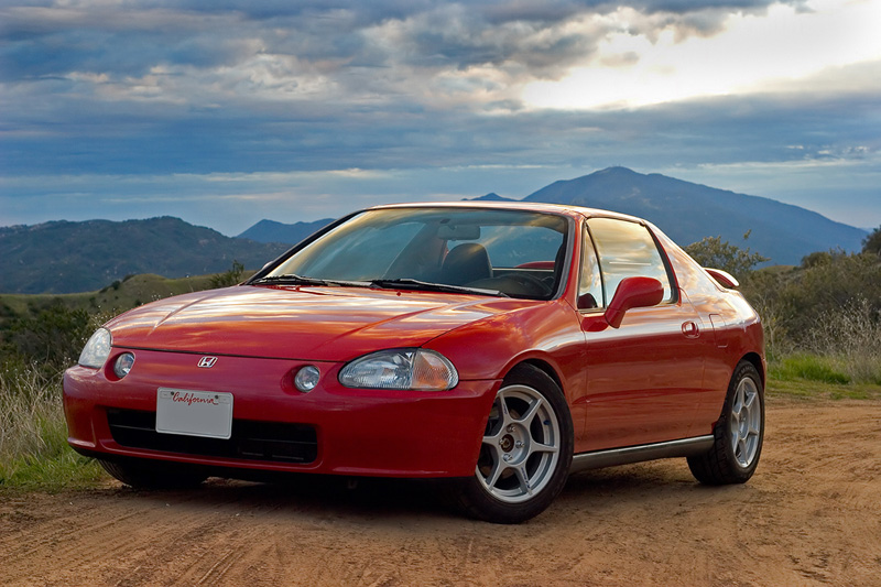 Honda Civic del Sol red #1