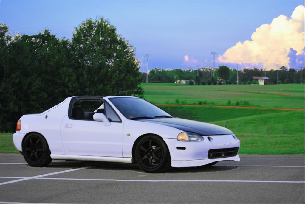Honda Civic del Sol white #1