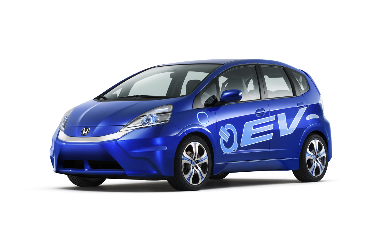 Honda Fit EV red #3