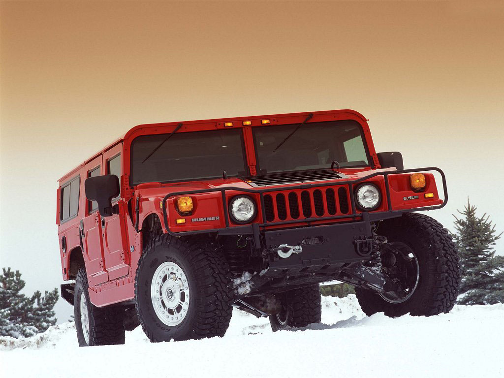 HUMMER H1 red #4