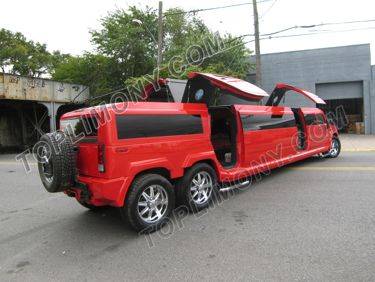 HUMMER H2 red #4