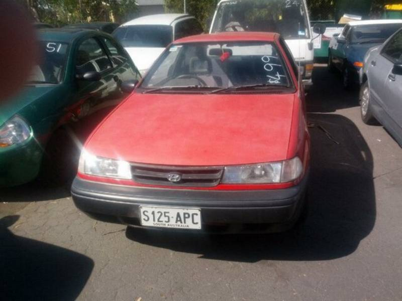 Hyundai Excel red #1