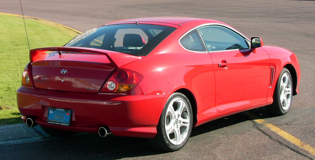 Hyundai Tiburon red #4