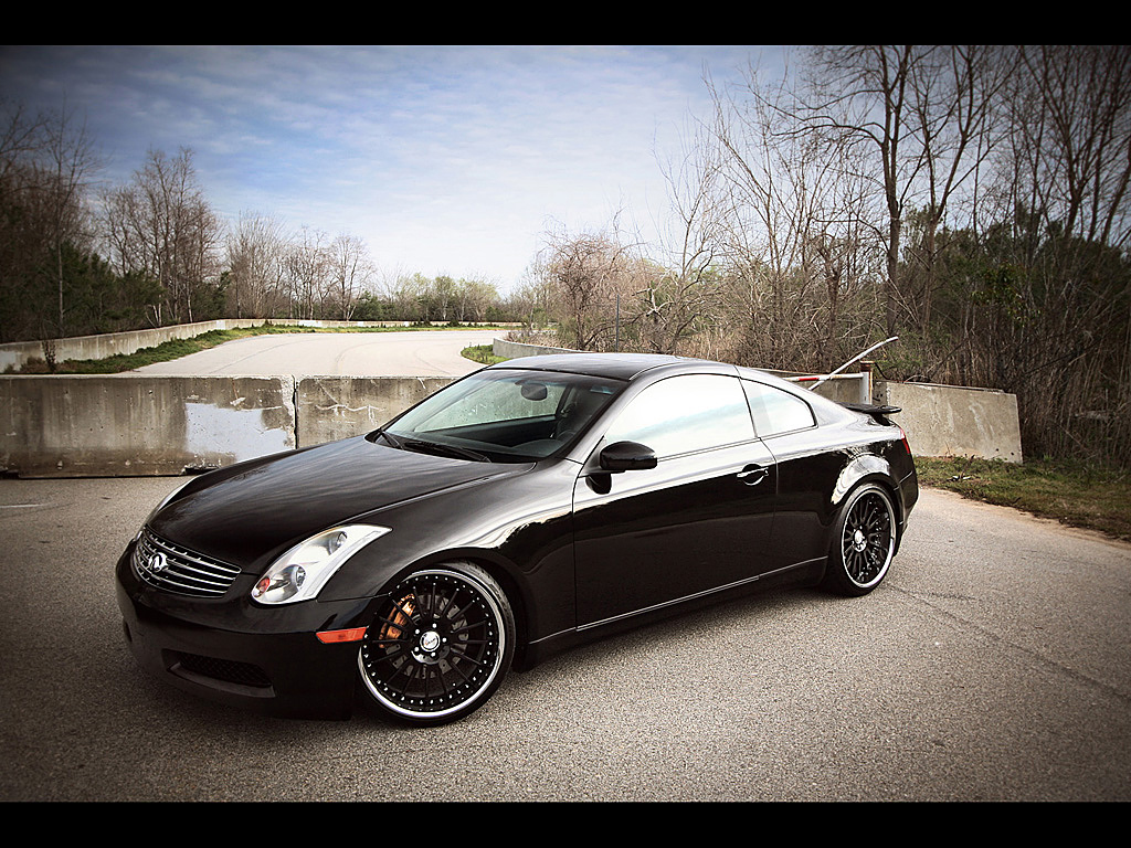 Infiniti G Coupe black #2