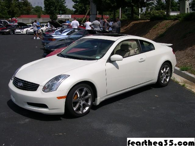 Infiniti G Coupe white #2